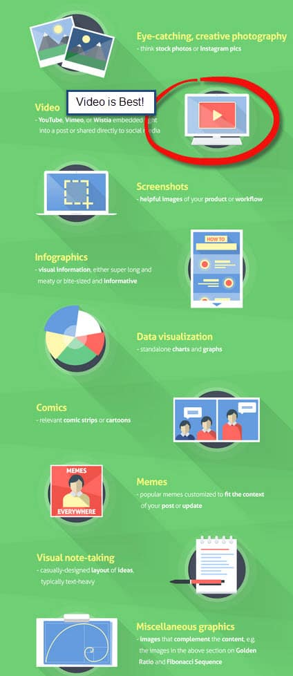 visually appealing content infographic for SEO