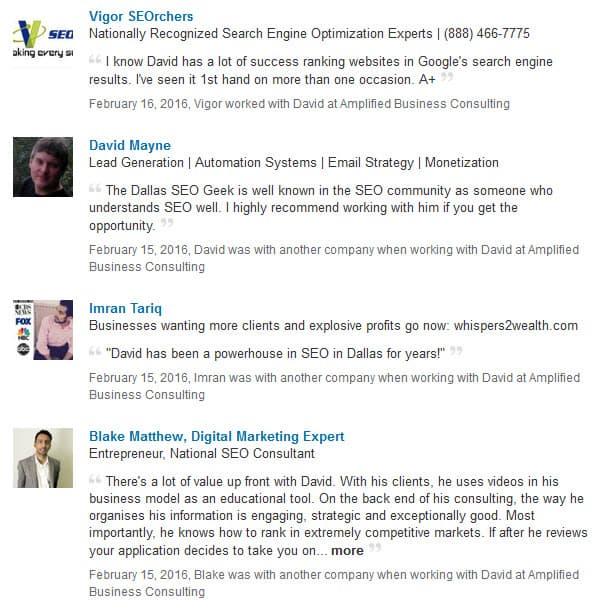 Dallas SEO Geek testimonials 5
