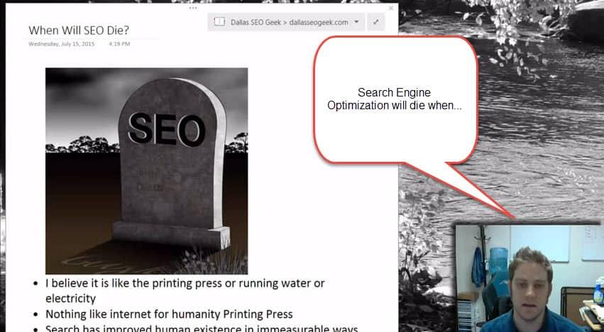 When Will Search Engine Optimization Die