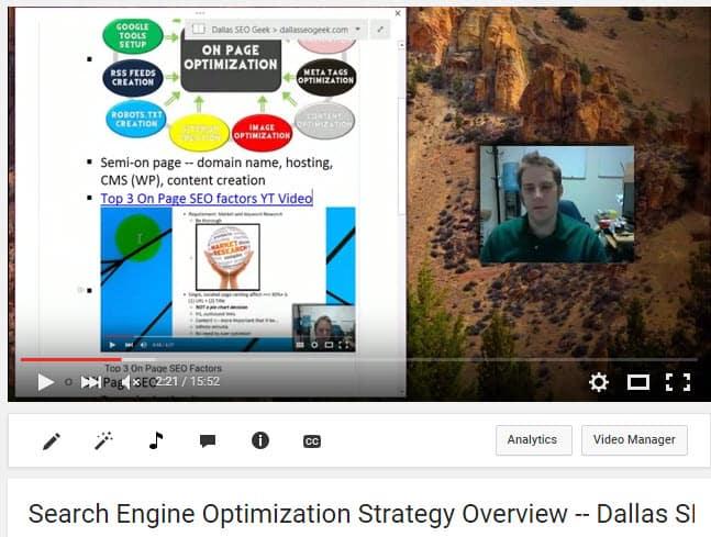 SEO Strategy Overview -- On Page SEO screenshot