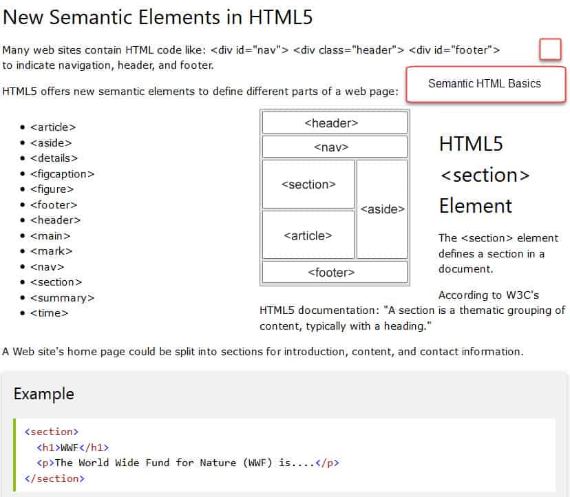 Semantic HTML for SEO