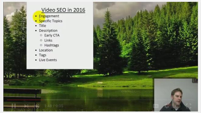 2016 Youtube Seo