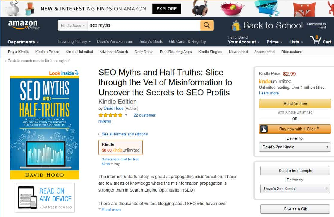 SEO Myths and Half Truths by David Hood