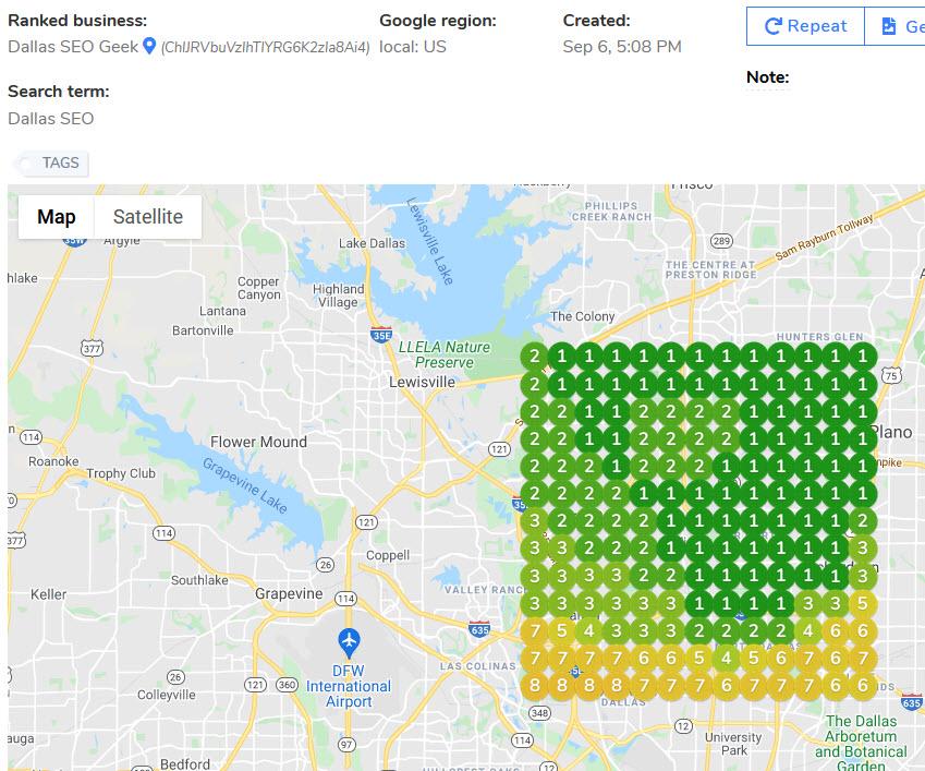 Dallas SEO Geek -- Dallas SEO Geogrid